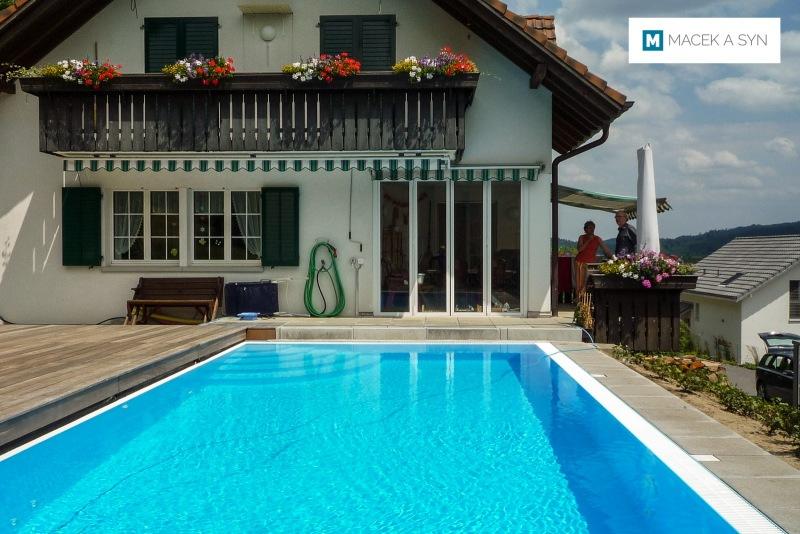 Swimming pool 3,8 x 7,8 x 1,4m, Schafisheim, kanton Aargau, Switzerland, Realization 2013