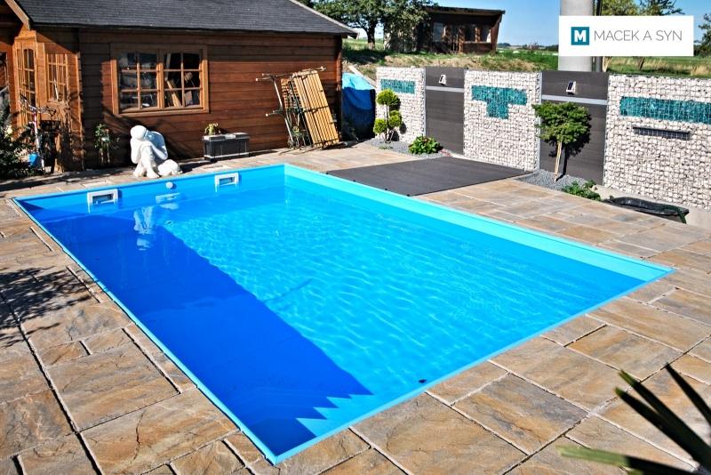 Swimming pool 3,2 x 5 x 1,5m, Burkhardswalde (Müglitztal), Saxony, Germany, Realization 2014