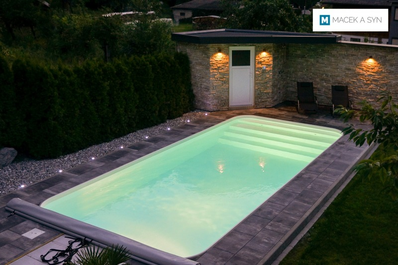 Swimming pool 3,5 x 7,5 x 1,5m, Nasserreith, Tyrol, Austria, Realization 2017