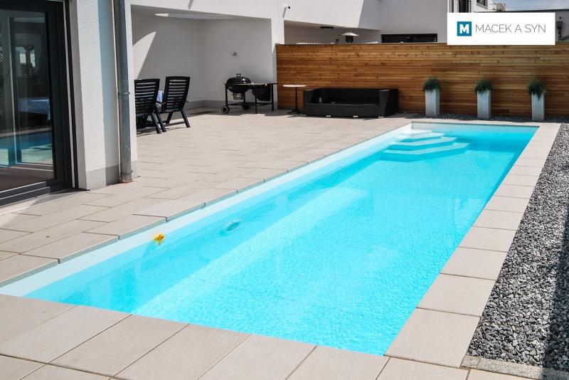 Swimming pool 2,8 x 6,8 x 1,35m, Landshut, Bavaria, Germany, Realization 2012
