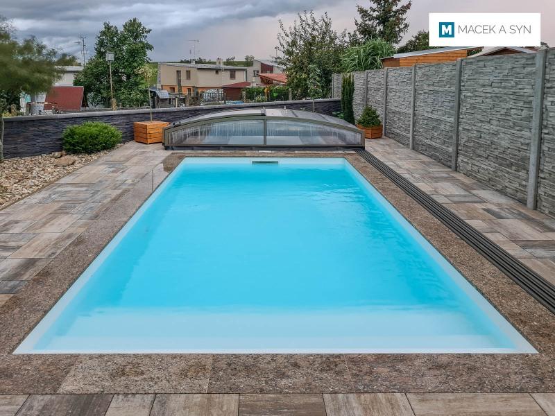 Swimming pool  6x4x1,35m, Pustiměř, Czech Republic, Realization 2019