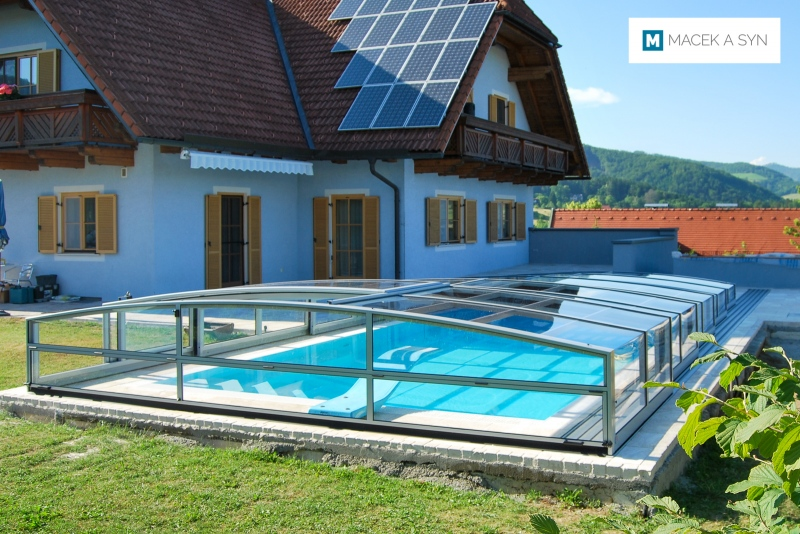 Roofing Viva 4,5 x 10,6 x 0,95m, silver color, Eisbach, Styria, Austria, Realization 2014