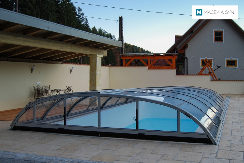 Roofing Elegant NEO 4,75 x 8,5 x 1m, silver color, Voitsberg, Styria, Austria, Realization 2010